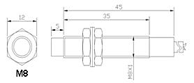 Induktiver Näherungsschalter MLM8-3002PB PNP Öffner