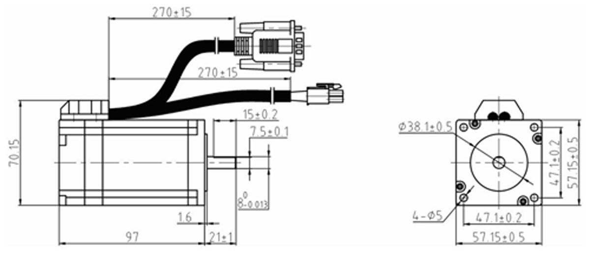 Hybrid Servo Motor Leadshine ES-M32320 | NTS electronic and ...