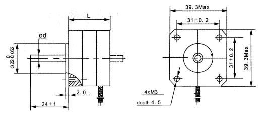 stepper motors 39byg