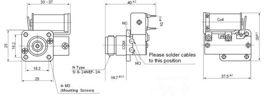 coaxial relay cx140d