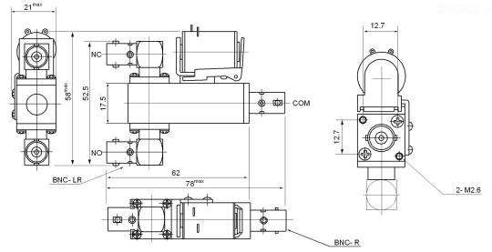 coaxial relay cx230l