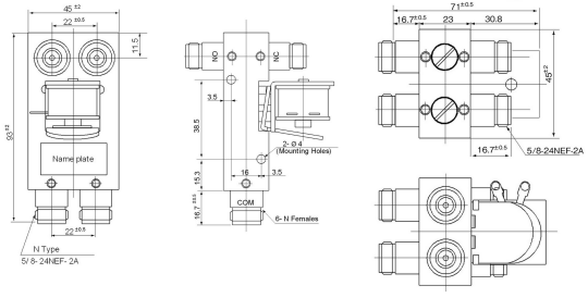 coaxial relay cx800n